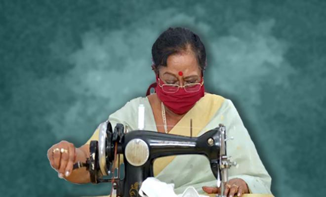 FI Savita Kovind Stitches Masks Herself