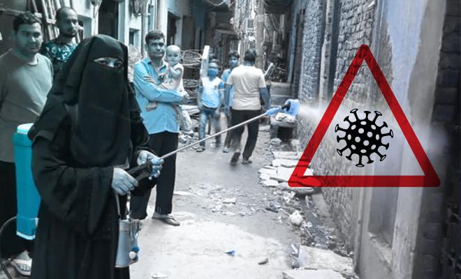 FI Woman In Burqa Sanitises Temples
