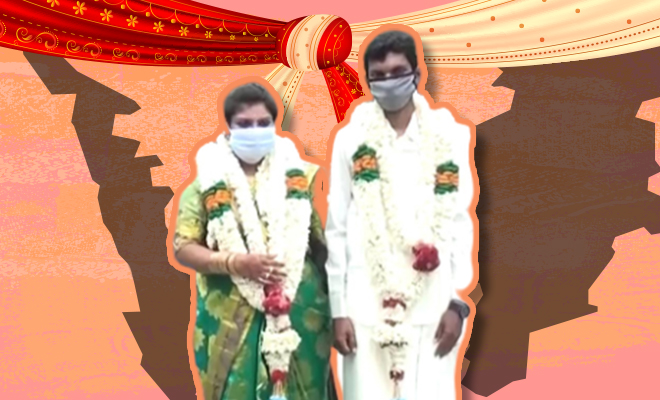 FI Couple Does Jugaad For Wedding