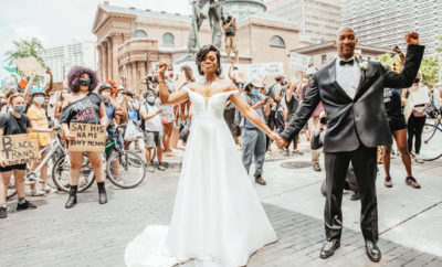 FI Newly Weds Join Protests