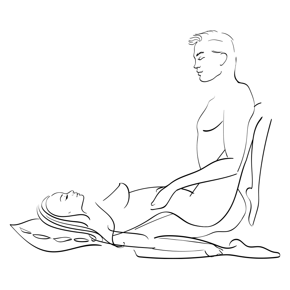 wide opened sex position
