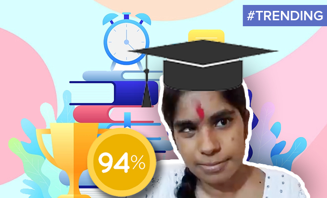 FI A Visually Impaired Girl Scored 94% In Her 12th Boards