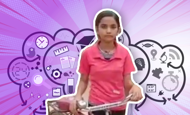 FI Girl Pedals To School, Scores 98.75% In 10th