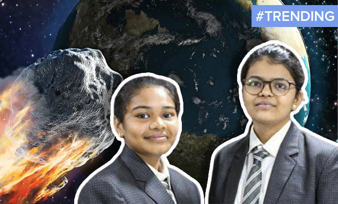 FI Two Girls In Gujarat Discover Asteroid