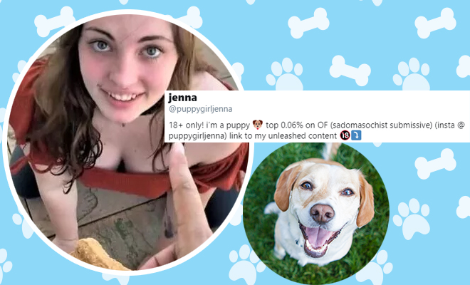 FI Woman Earns By Pretending To Be A Dog