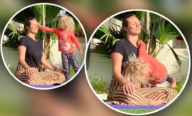 FI Yoga Interrupted By Cuteness