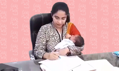 Fl-IAS-Officer-Joins-Work-Within-14-Days-Of-Childbirth