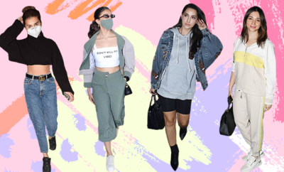 Celeb winter airport looks