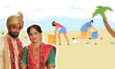 Fl-Karnataka-Newlyweds-Clean-Beach-Instead-Of-Going-On-Honeymoon