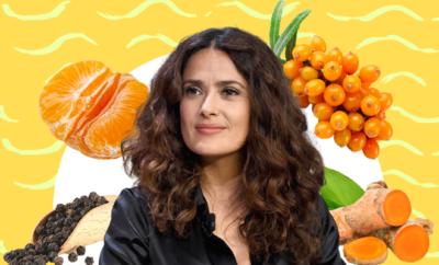 Fl Salma-Hayek-secret-orange-juice
