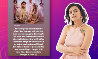 Shraddha Srinath Takes A Dig At Patriarchy While Wishing Varun Dhawan