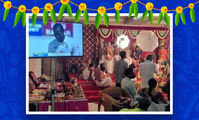 Fl-Family-live-streams cricket at wedding