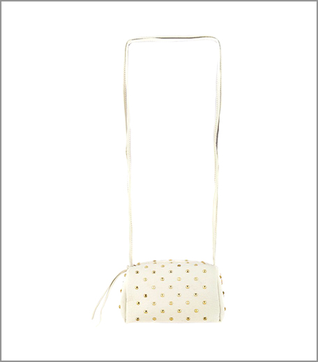 3 20 Dresses WHITE STUDDED SLINGBAG_Hauterfly