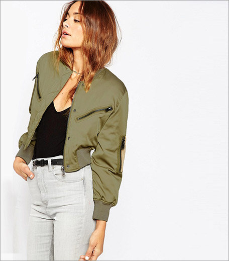 ASOS Bomber Jacket in Cropped Length_Cropped Jacket Trend Spring Summer 2016_Hauterfly