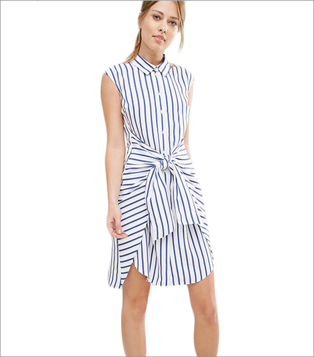 ASOS Closet Stripe Tie Front Dress_Hauterfly