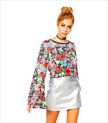 ASOS Jaded London Crochet Floral Crop Top With Flared Sleeve_Hauterfly