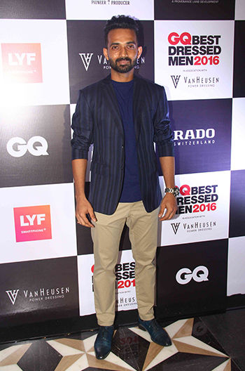 Ajinkya Rahane at GQ Best Dressed Men 2016 held at Four Seasons Hotel, Mumbai _ 02 June 2016