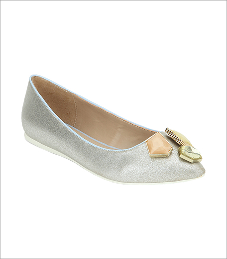 Aldo Deasen Silver Embellished Belly Shoes_Hauterfly