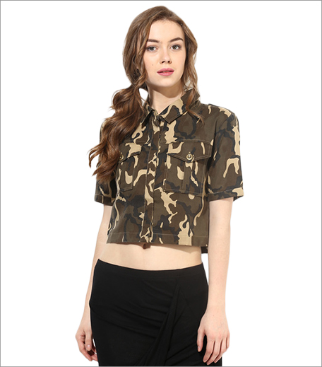 Alia Bhatt For Jabong Cameo Print Crop Shirt_A College It Girl's Wardrobe_Hauterfly