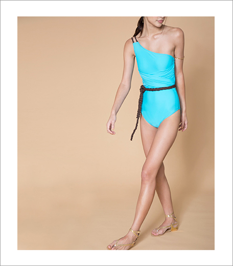 Aqua One Shoulder Swimsuit_Hauterfly