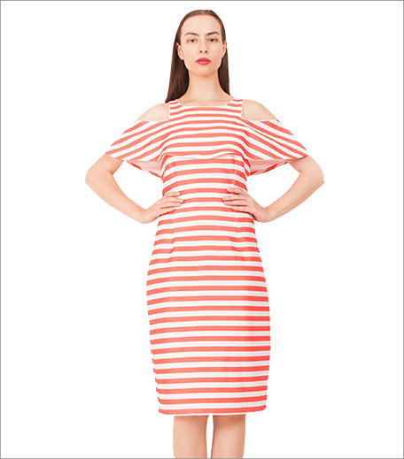 Arushi Gupta Printed Off Shoulder Striped Dress_Hauterfly