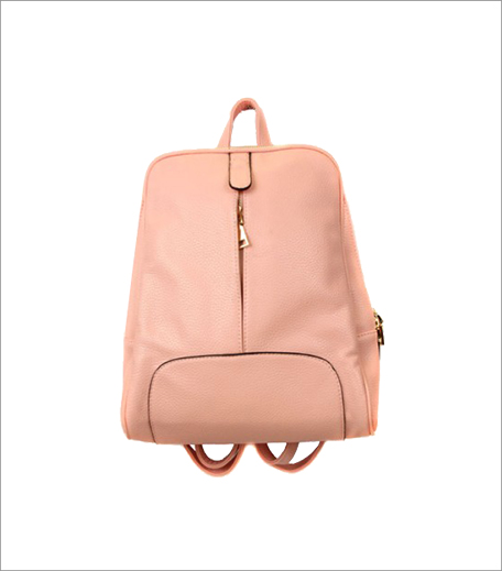 Blur Pink Middle Zipper Bagpack_A College It Girl's Wardrobe_Hauterfly