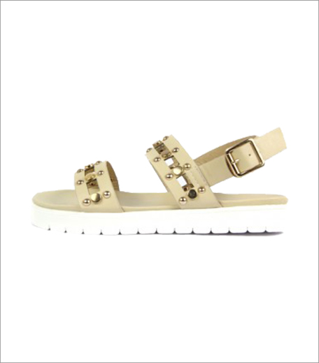 Blur Studded Beige Sandals_Hauterfly
