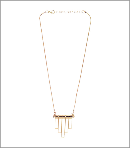 Blur White Downward Bar Necklace_Hauterfly