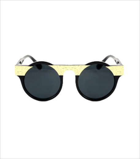 Blur Gold Bar Round Sunglasses_Hauterfly