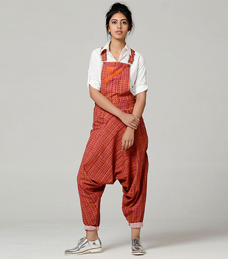 Brass Tacks Dhoti Dungarees_Hauterfly