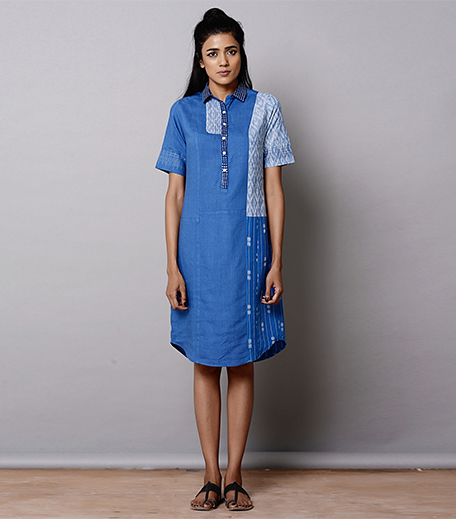 Brass Tacks Patch Work Dress_Hauterfly
