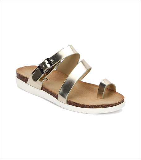 Carlton London Golden Buckled Metallic Sandals_Hauterfly