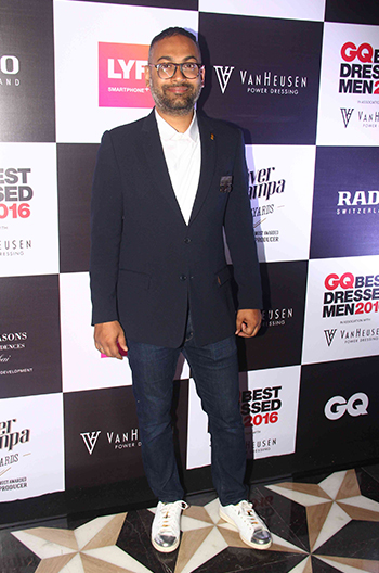 Che Kurrien, Editor, GQ at GQ Best Dressed Men 2016 held at Four Seasons Hotel, Mumbai _ 02 June 2016