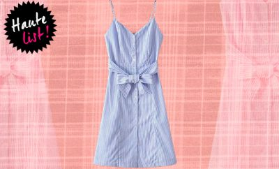 Closet Diaries Front Button Striped Dress_Huaterfly
