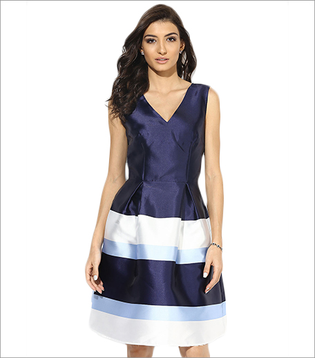 Dorothy Perkins Navy Striped Prom Dress_Hauterfly