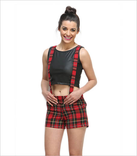 Faballey Tartan Suspender shorts_Hauterfly