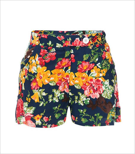 Floral Vintage Shorts Floral Print Cotton Shorts_Hauterfly