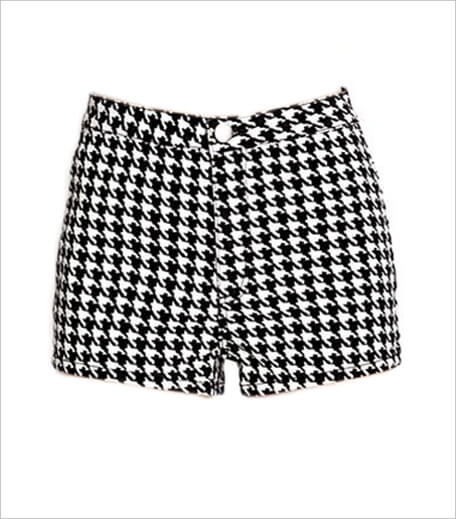 Forever 21 High Waisted Houndstooth Shorts_Hauterfly