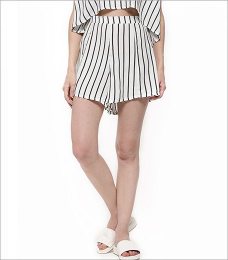 Glamorous Striped Loose Shorts_Hauterfly