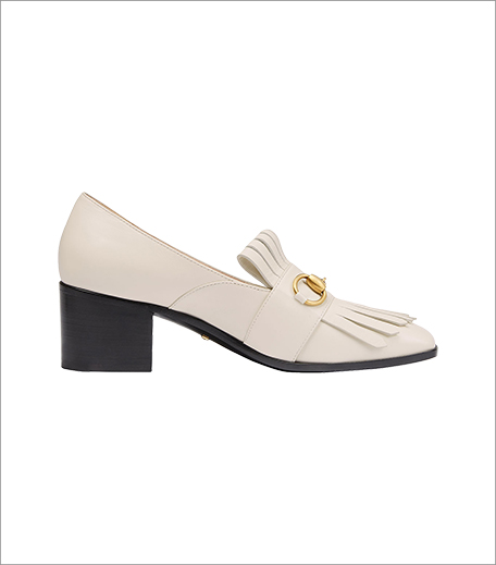 Gucci Polly Kiltie Leather Loafer In Off-White_Hauterfly