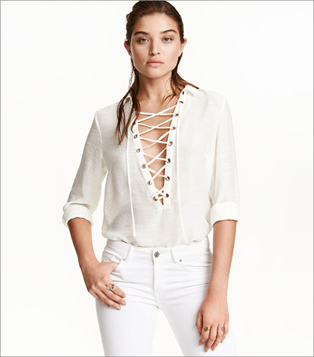H&M_Shirt With Lacing_Hauterfly