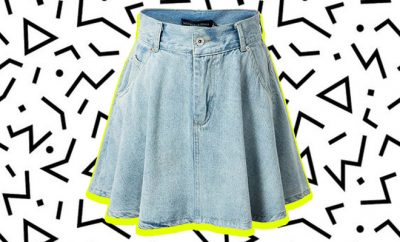 How To Wear_Denim Skater Skirt_Hauterfly