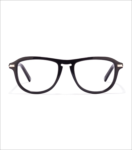 John Jacobs Beatniks Black Golden Eyeglasses