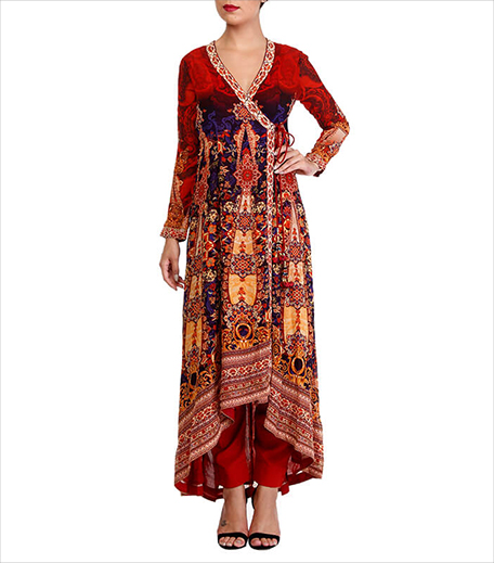 Kalista Rust Angrakha Dress_Hauterfly