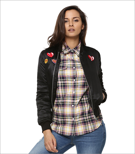 Koovs Emoji Bomber Jacket_A College It Girl's Wardrobe_Hauterfly