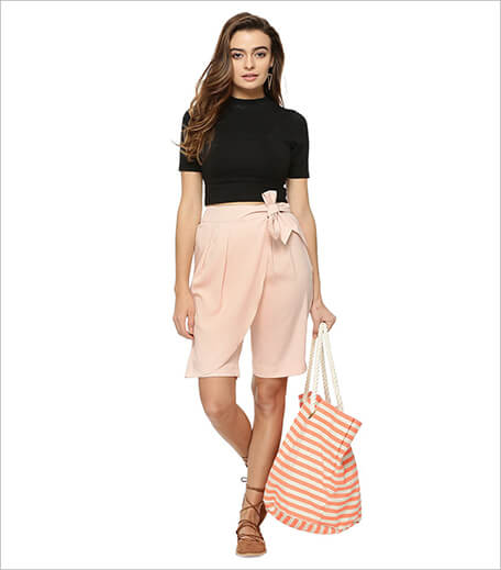 Koovs Wrap Front Long Line Shorts_Hauterfly