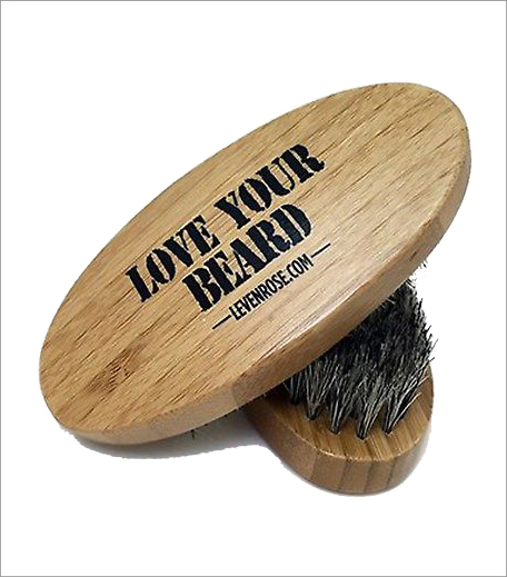 Leven Rose Wooden Boar Hair Bristle Beard Brush