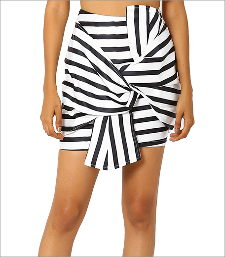 MDS Bow-Front Mini Skirt_Hauterfly