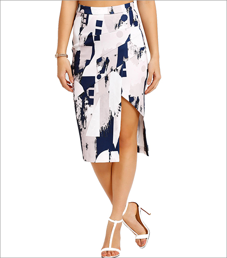 MDS Printed Panelled Skirt_Hauterfly