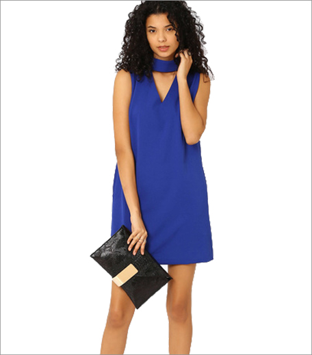 MDS Shift Dress With High Neckline_Hauterfly